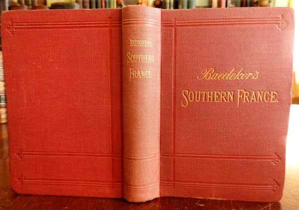Baedeker's Southern France Loire Valley Corsica 1891 travel guide with maps