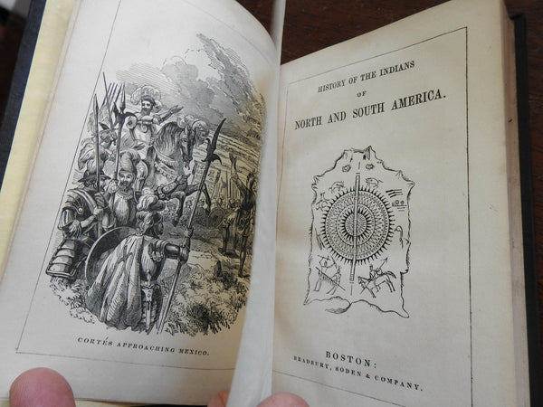 Indians of North & South America - their History 1844 Goodrich illustrated book