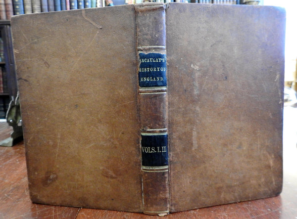 History England from Accession of James II 1849 Cincinnati Macaulay leather book