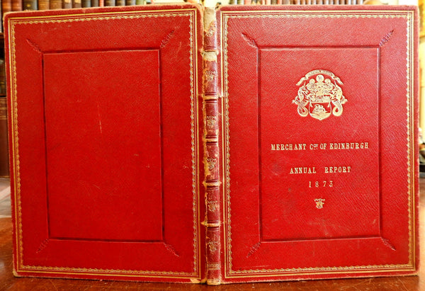 Merchant Company of Edinburgh Scotland 1873 Report Charity Work Orphanages book