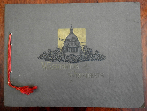 Washington & the Presidents 1928 B&W photographic souvenir album