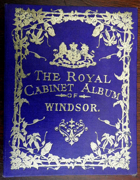 England Windsor Album Royal Cabinet 1878 Victorian era photo souvenir album