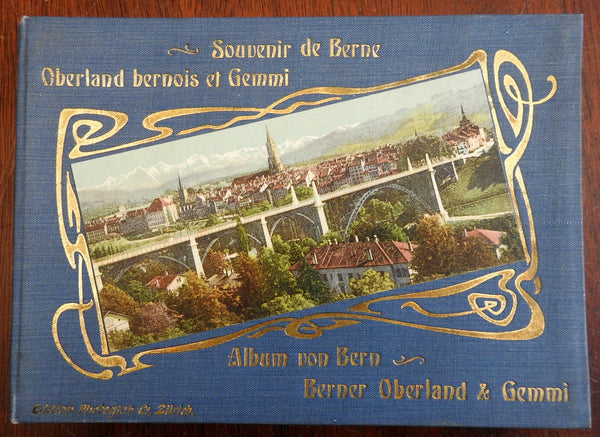 Bern Switzerland Souvenir Album 1880's hand colored photographic views
