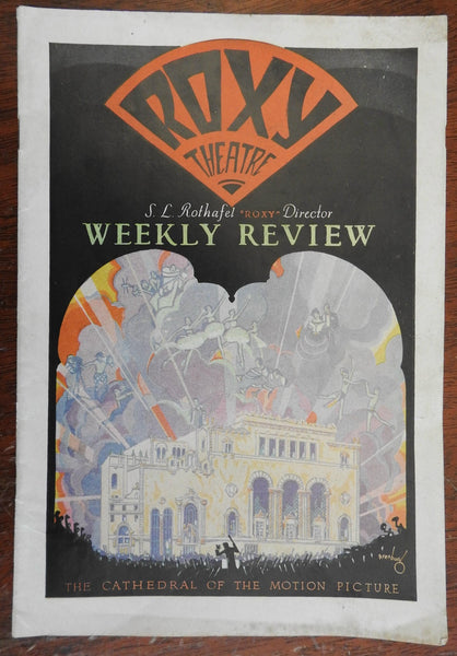 Roxy theatre Weekly Review 1927 Theatre & Arts magazine Art Deco advertising
