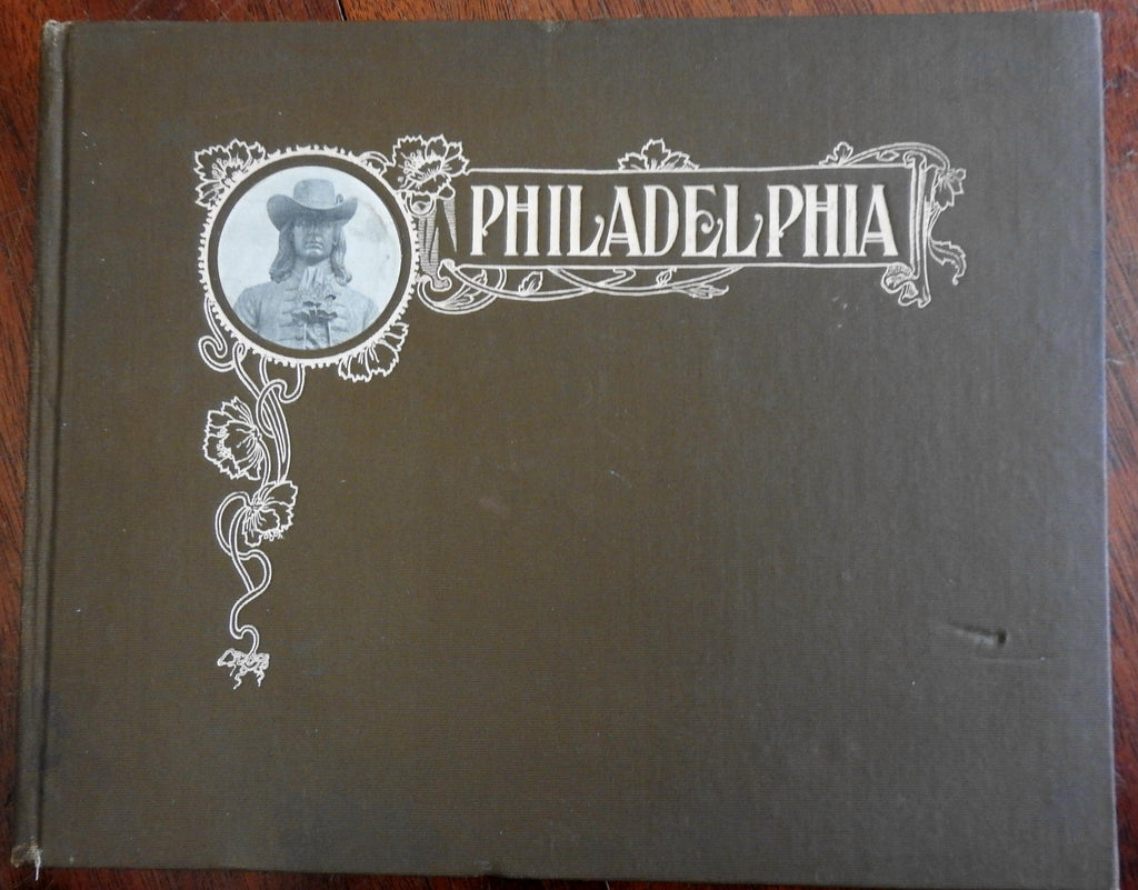 Philadelphia city Pennsylvania c. 1900 b&w photographic souvenir book