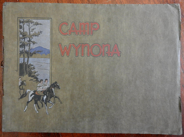 Wynona Summer Camp for Girls Lake Morey Vermont 1924 photo album booklet