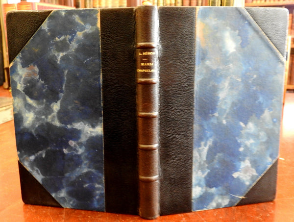 Maria Chapedelaine c.1930-50 Louis Hemon Canadian Novel old French leather book