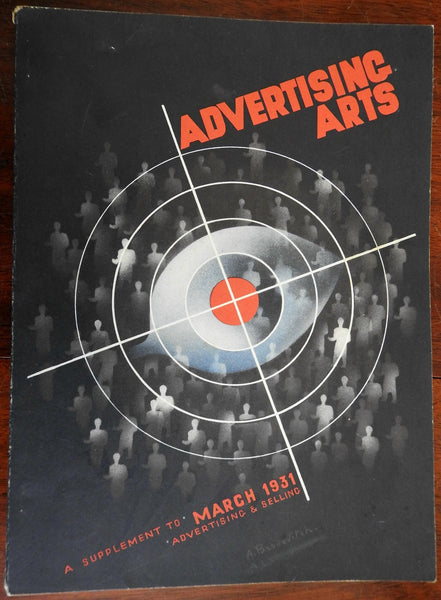 Advertising Arts selling commerce Art Deco 1931 color ads illustrated magazine
