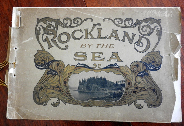 Rockland by the Sea Maine New England 1900's souvenir photo album nice views