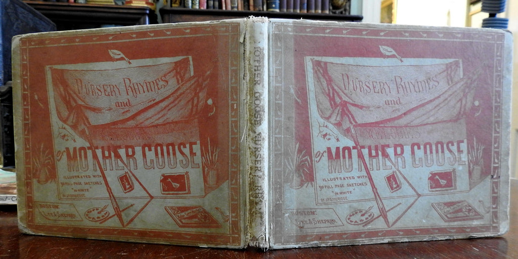 Mother Goose's Nursery Rhymes 1892 silhouette illustrated children's book