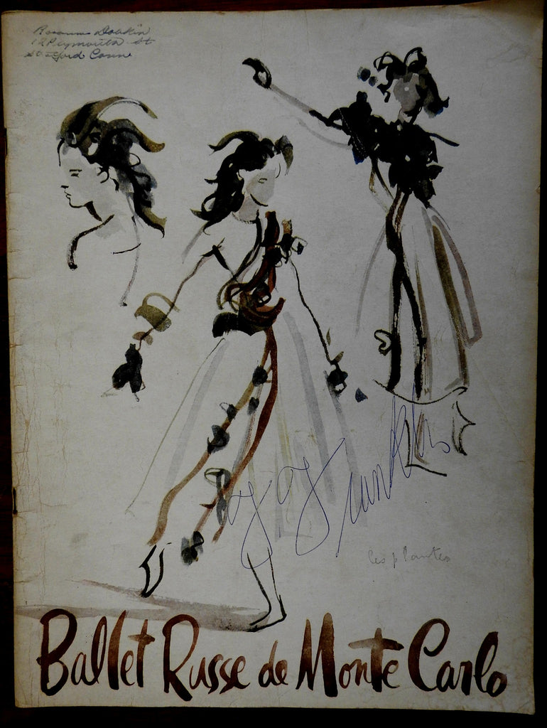 Ballet Russe de Monte Carlo 1950 Yearbook F. Franklin signed cover