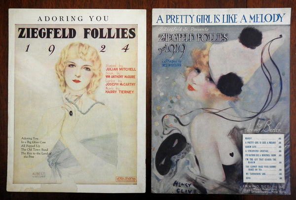 Ziegfeld Follies Alberto Vargas 1919 & 1924 Irving Berlin music beautiful covers