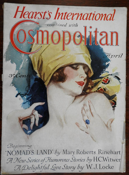 Harrison Fisher color cover 1926 Cosmopolitan Magazine entire issue w/ great ads