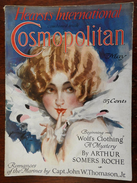 Cosmopolitan Magazine 1926 beautiful cover art period advertising