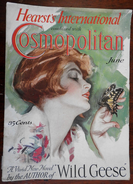 Cosmopolitan mag issue 1926 H. Fisher cover art & great period advertising