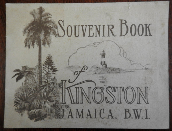 Kingston Jamaica British West Indies 1920's Tourist Souvenir Book photographic