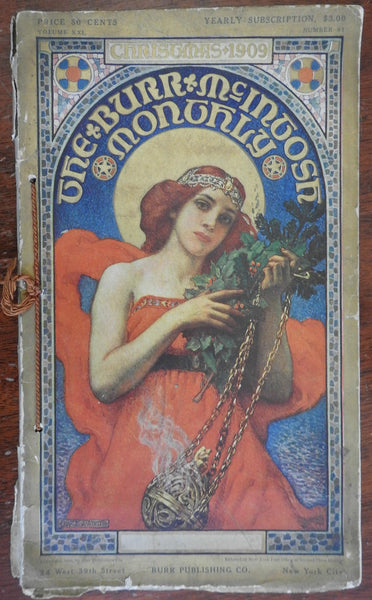 Burr McIntosh Monthly Magazine Christmas 1909 beautiful art nouveau cover