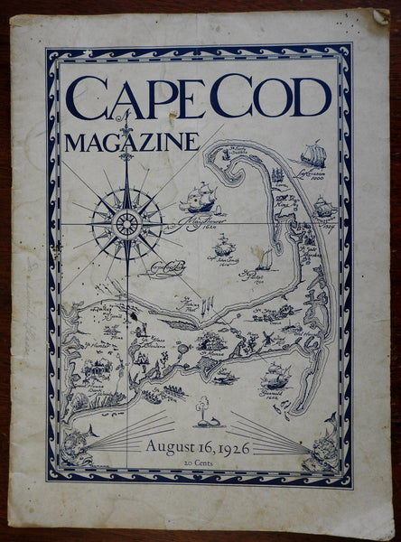 Cape Cod Magazine 1926 Americana New England period advertising