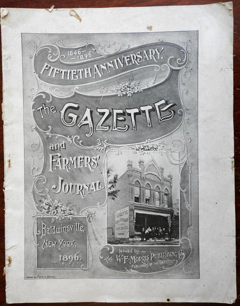 Baldwinsville New York 1896 Gazette & Farmer's special 50th issue w/ city pics