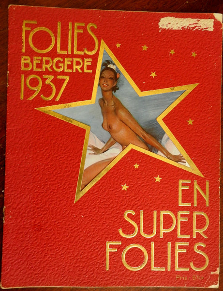 Folies Bergere 1937 Josephine Baker great stage pics French cabaret magazine