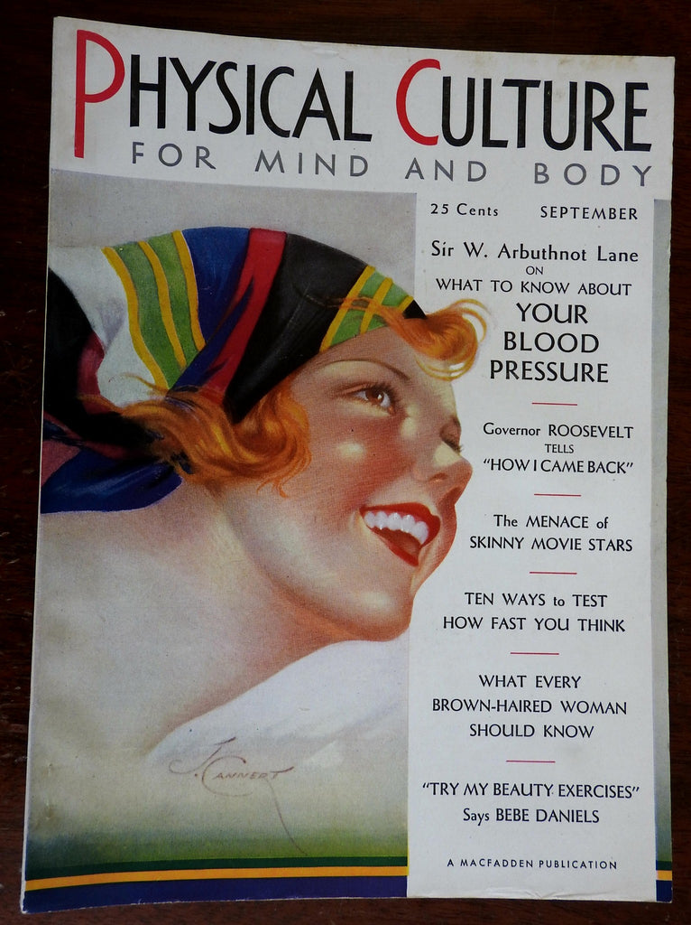 Physical Culture Magazine 1930 Health Body illustrated magazine w/ ads & pics
