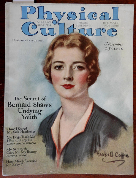 Physical Culture Magazine 1929 American Health & Culture illustrated periodical