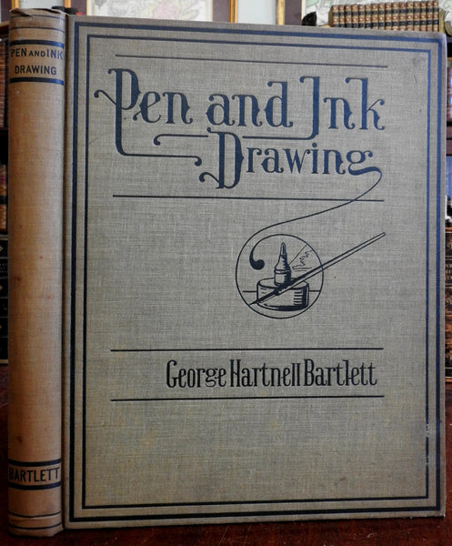 Pen & Ink Drawing 1903 George Hartnell Bartlett profusely illustrated nice book