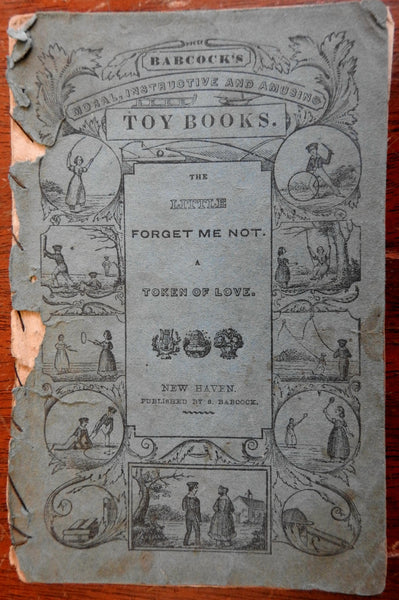 Juvenile chap book Toy Book c.1840's Babcock Token of Love w/ woodcuts moral