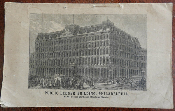 Philadelphia Public Ledger Building c. 1867 commemorative pamphlet