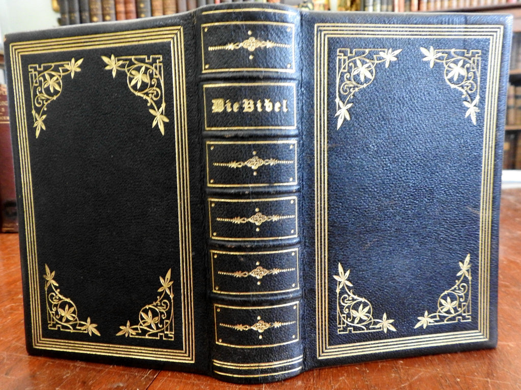 Holy Bible Old & New Testament German Translation 1887 fine leather binding