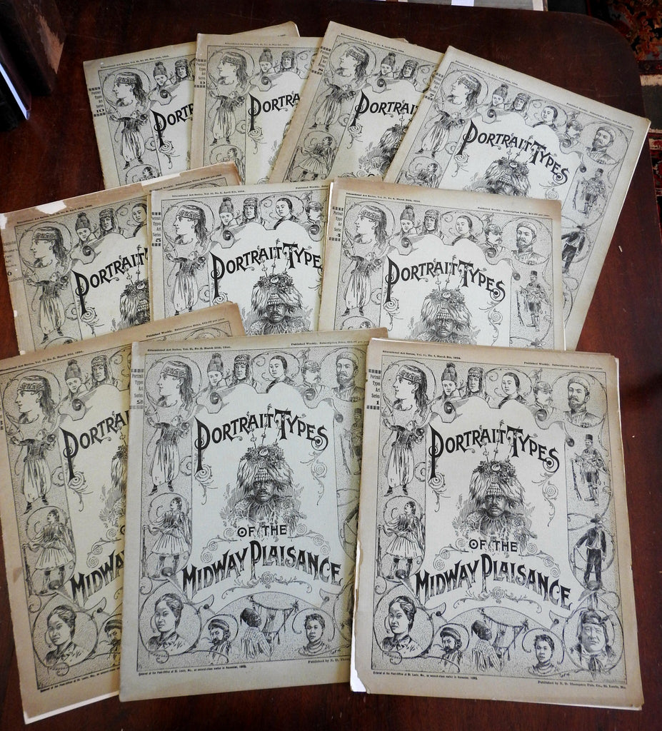 Chicago 1893 Columbian Expo lot x 10 Midway Plaisance cultural ethnic portraits