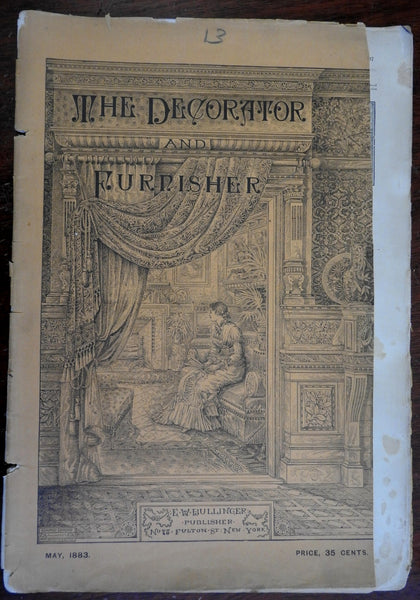 Decorator & Furnisher 1883 American Interior Design Magazine Furniture Armor
