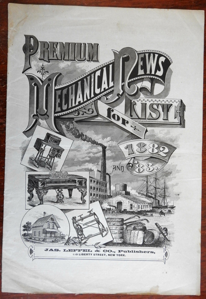 Premium List prizes Mechanical News 1882 & '83 trade publication w/ advertising