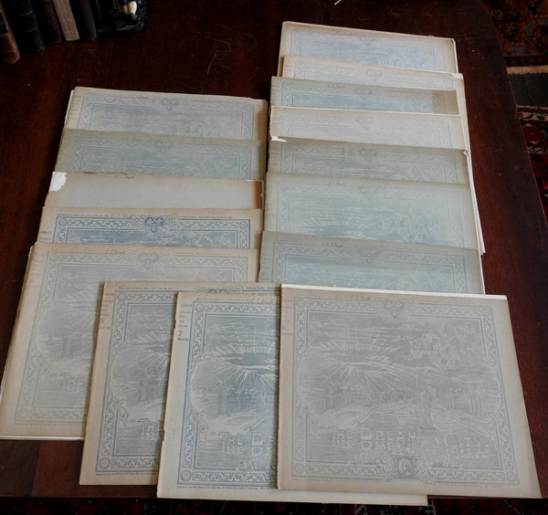Chicago Columbian Expo 1893 Dream City World's Fair Art Series lot x 17 booklets