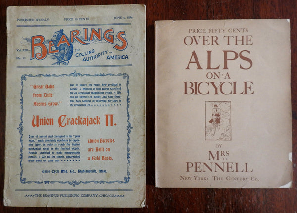19th Century Bicycling Magazine & Book 1896-8 Bicycle Culture lot x 2