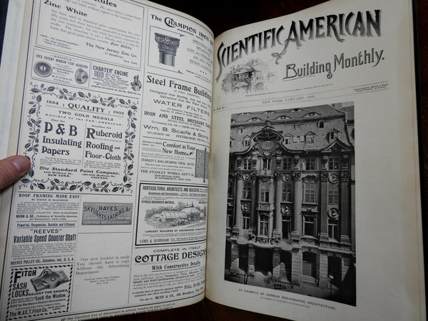 Scientific American Building Monthly 1902 Architecture 12 issues large book