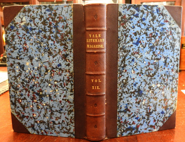 Yale Literary Magazine 1853-4 Antebellum Edition Poetry Literature leather book
