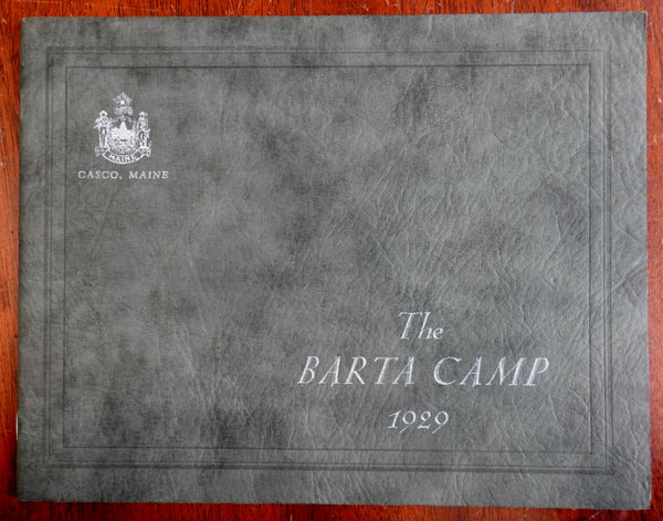 Casco Maine Barta Camp 1928 girl's camp photo album activities & outdoor sports