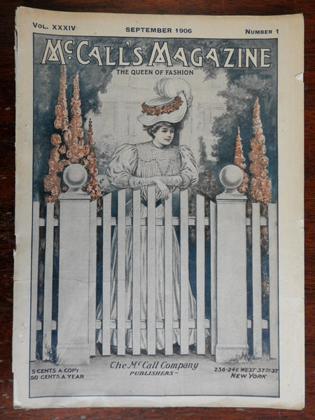 McCall's Magazine September 1906 illustrated women's fashion magazine adverts
