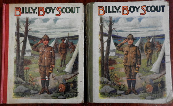 Billy Boy Scout 1916 lot of 2 copies illustrated children's book camping fishing