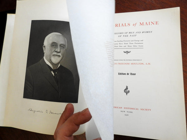 Memorials of Maine 1916 American Historical Society Famous People biographies