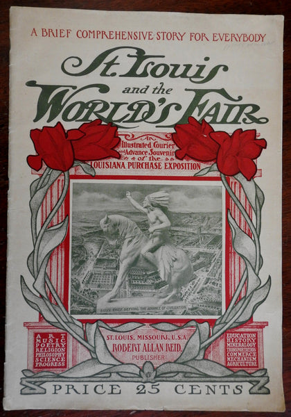 St. Louis World's Fair Louisiana Purchase Expo 1904 rare souvenir birds-eye view