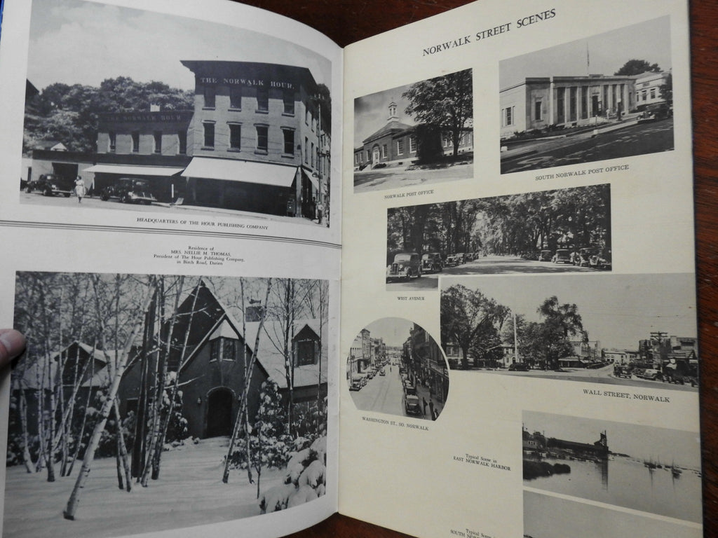 Pictorial Norwalk Connecticut 1939 local history Americana street scenes homes