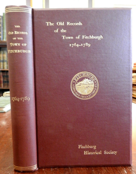 Fitchburg Massachusetts early records 1898 Americana Local History New England