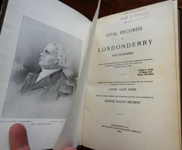 Londonderry New Hampshire Vital Records 1914 local history births deaths