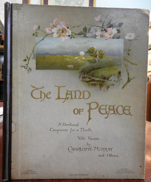 Land of Peace 1880 Christian Devotional Nister Chromolithographed rare book