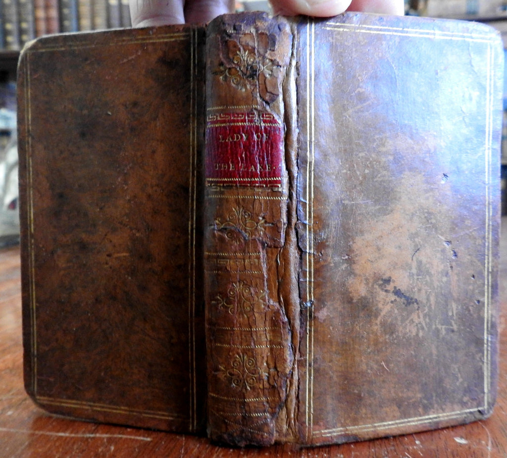 The Lady of the Lake 1810 NY imprint Sir Walter Scott small leather book