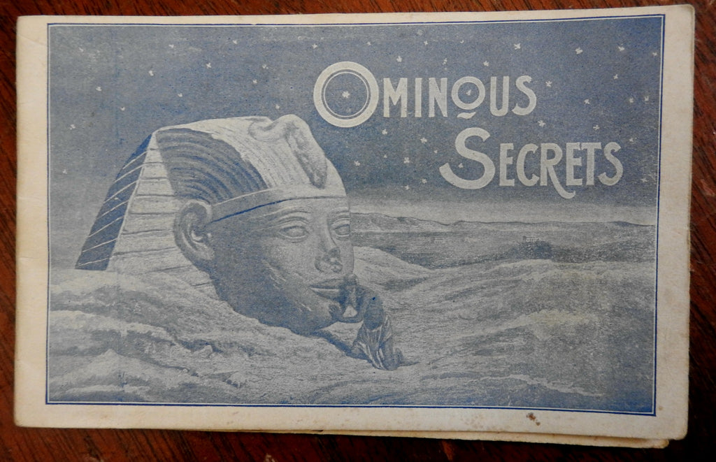"Pabst Brewing Sphinx Advertising Booklet 1894 ""Ominous Secrets"" RARE beer promo"