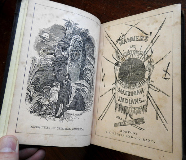 American Indians Manners Customs History Tribes 1849 Goodrich illustrated book