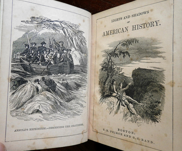 American History 1849 Samuel Goodrich illustrated decorative old book